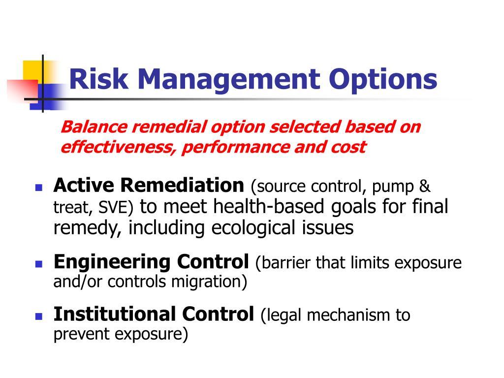 Risk Management Options