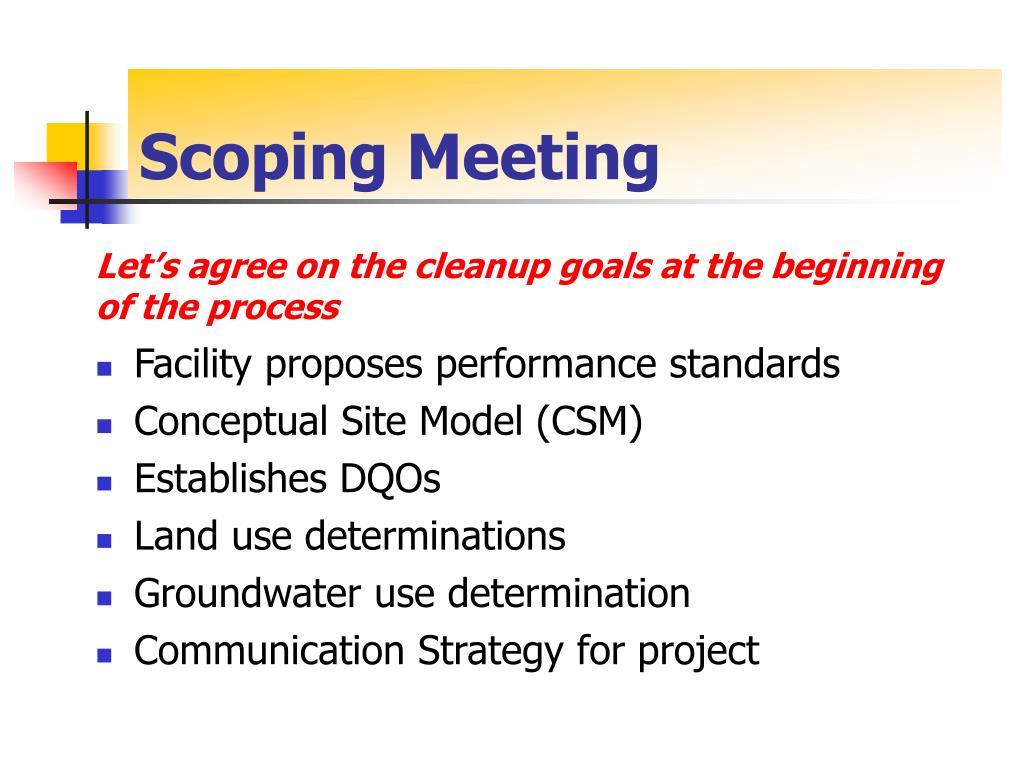 Scoping Meeting