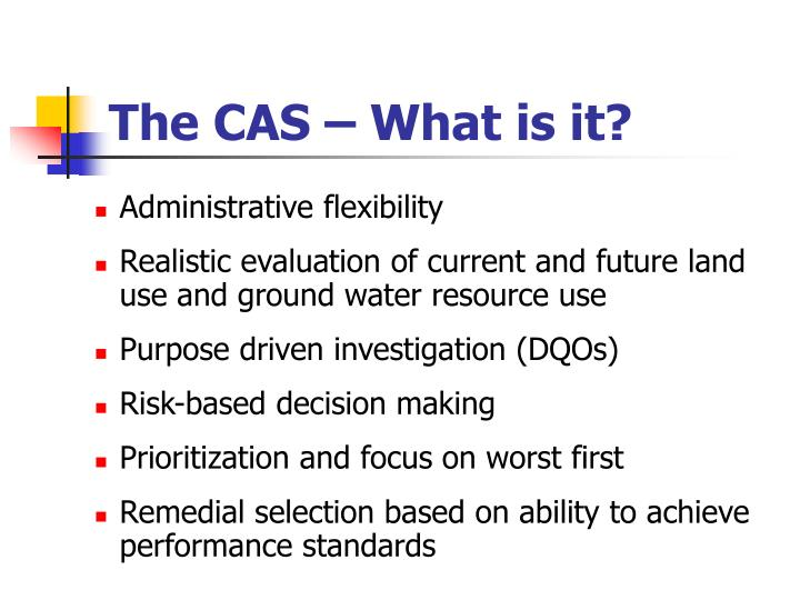 The cas what is it3