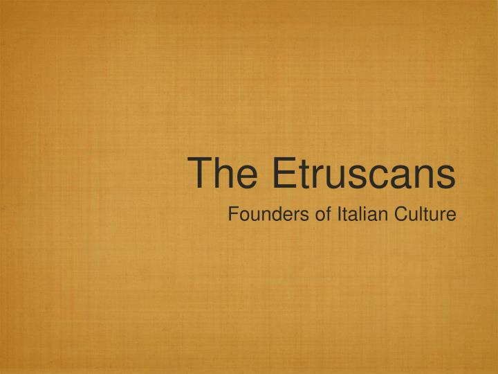 the etruscans n.