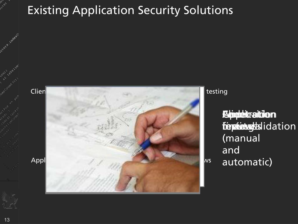 Existing Application Security Solutions