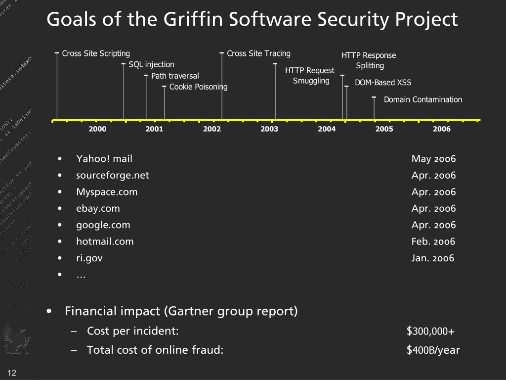 Goals of the Griffin Software Security Project