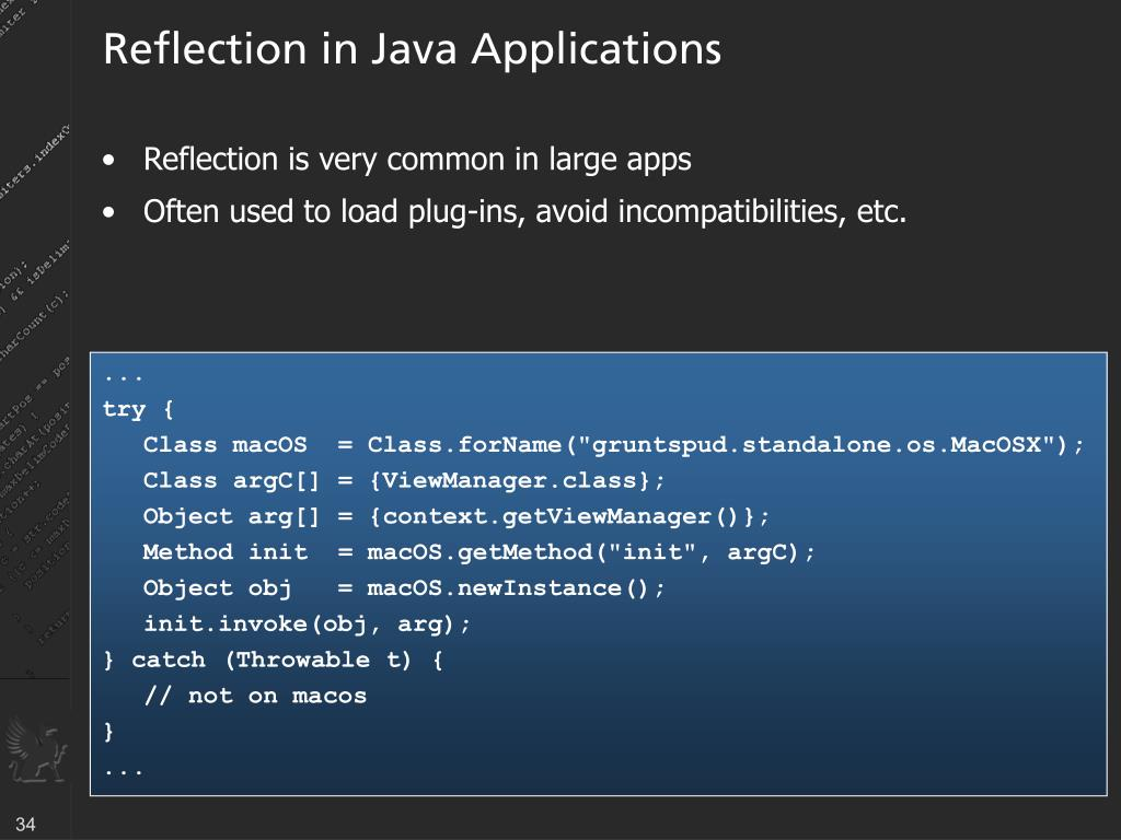 Reflection in Java Applications