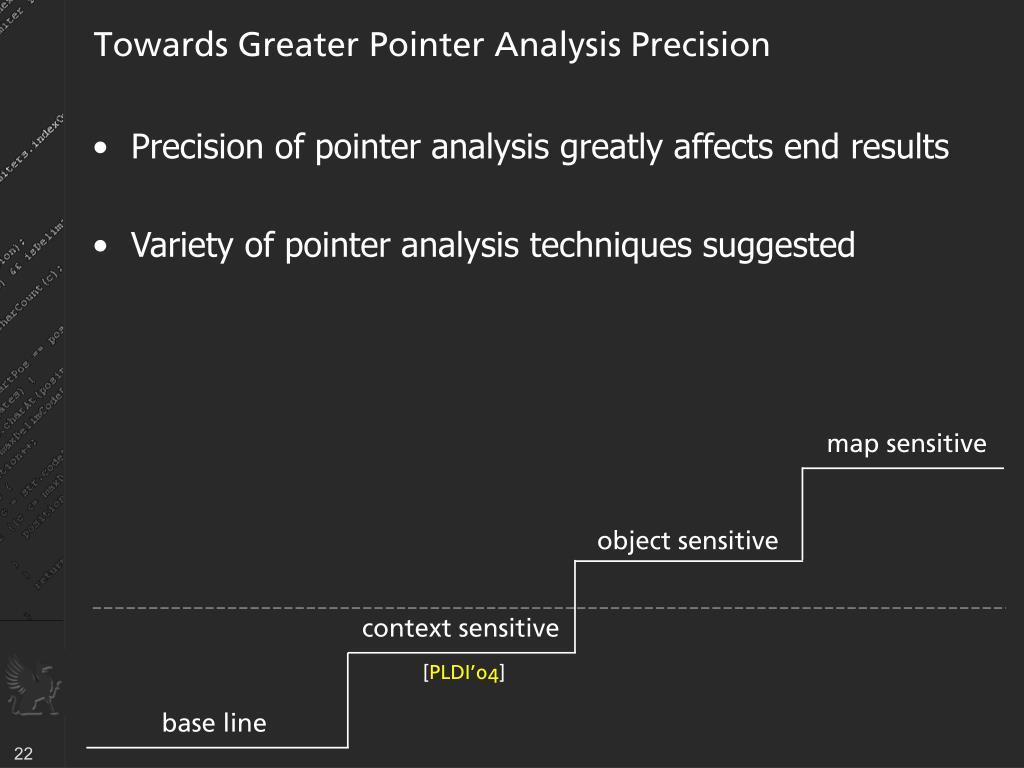 Towards Greater Pointer Analysis Precision