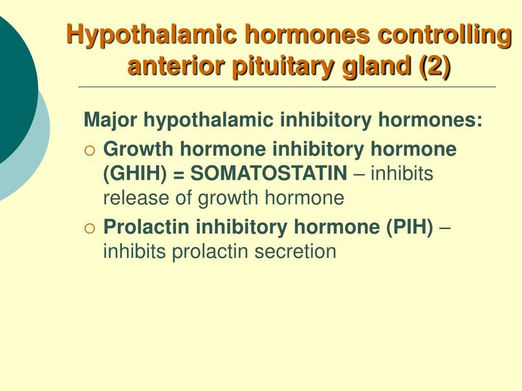 Hypothalamic hormones controlling anterior pituitary gland (2)