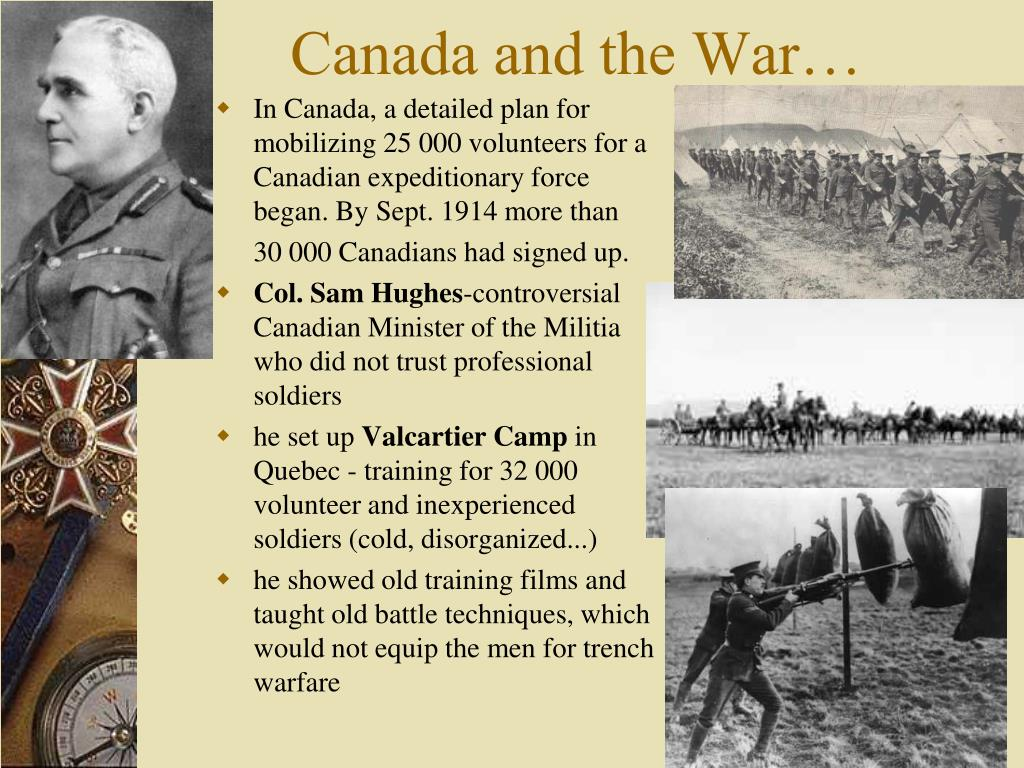 Canada and the War…