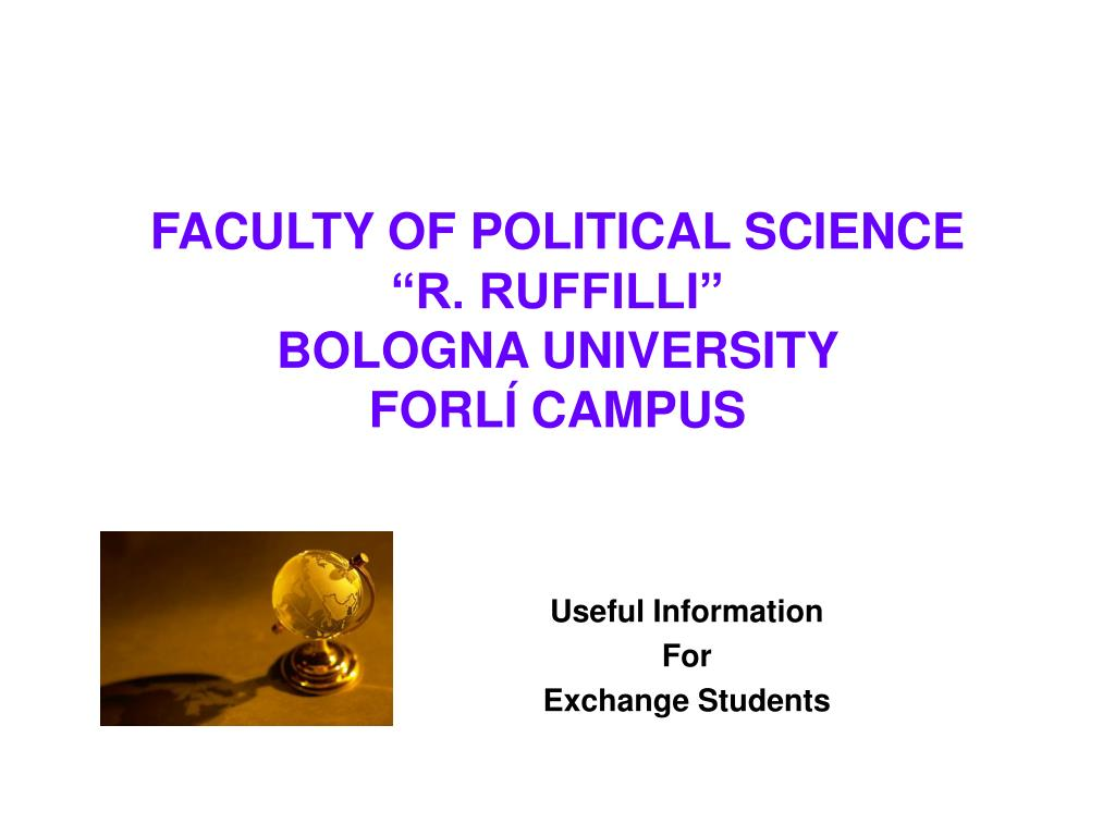 faculty of political science r ruffilli bologna university forl campus l.
