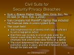 civil suits for security privacy breaches68
