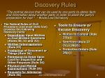 discovery rules