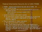 federal information security act of 2002 fisma