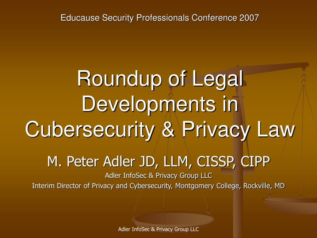 roundup of legal developments in cubersecurity privacy law l.