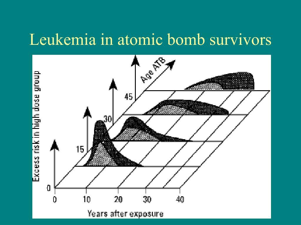 Leukemia in atomic bomb survivors