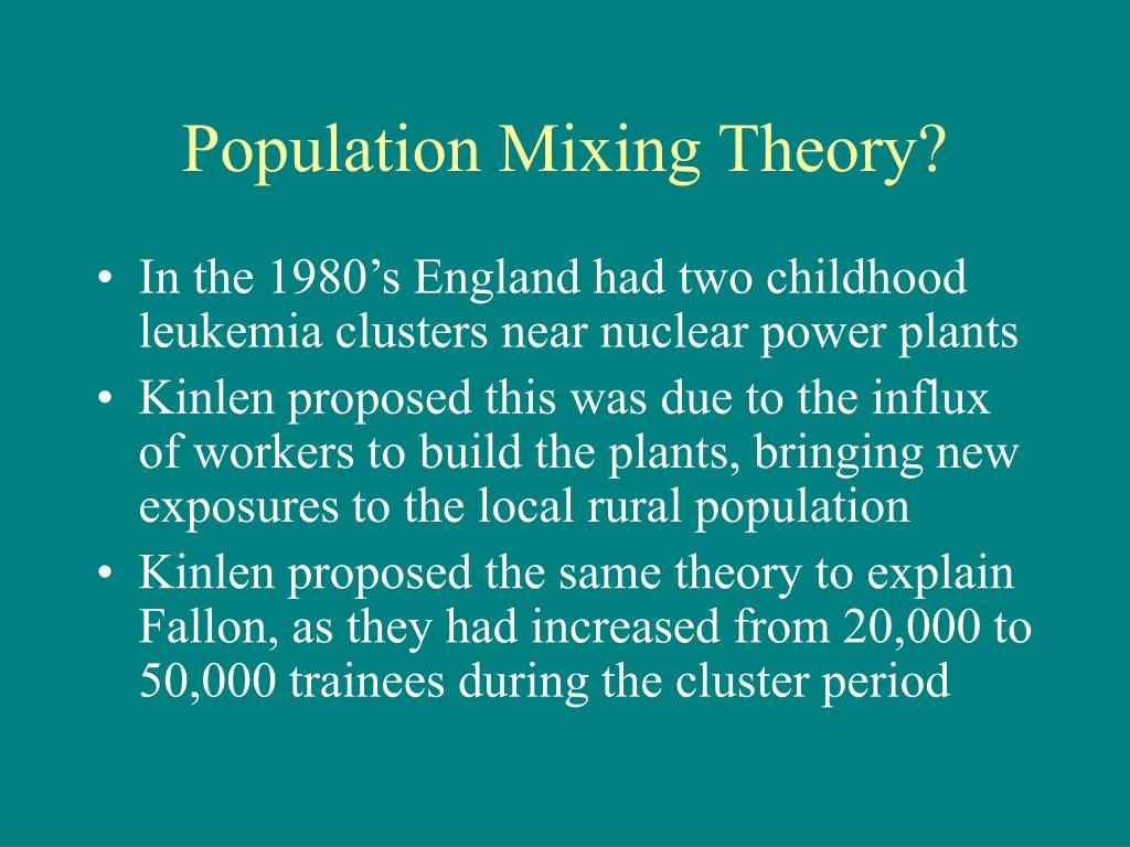 Population Mixing Theory?