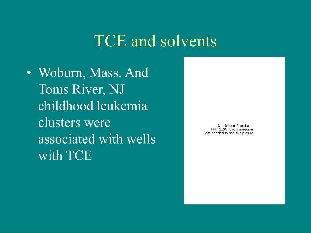 TCE and solvents