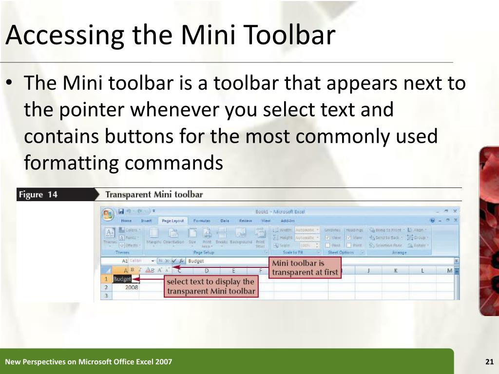 Accessing the Mini Toolbar