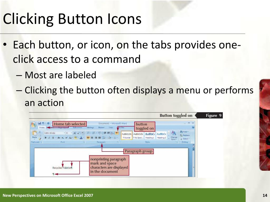 Clicking Button Icons