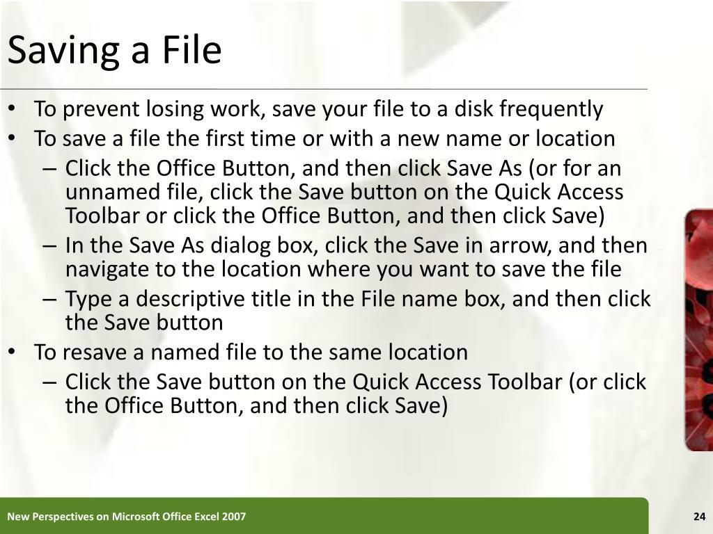 Saving a File