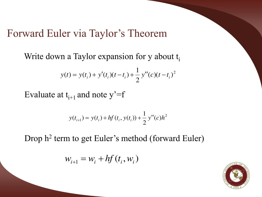 PPT - Review of numerical methods for ODEs Numerical Methods