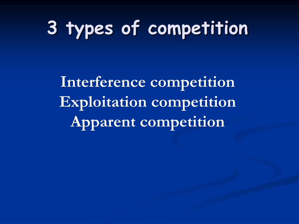 3 types of competition