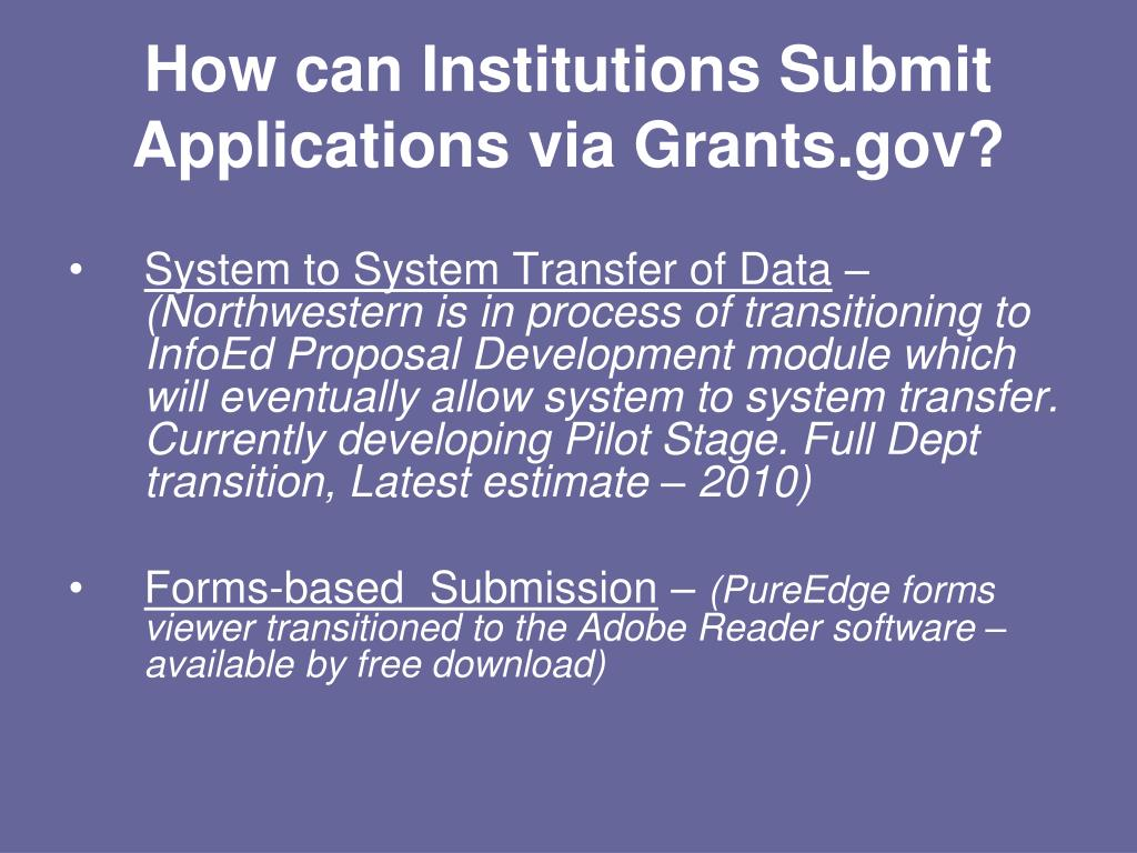 PPT - Grants Proposal Submission : Using Adobe PowerPoint
