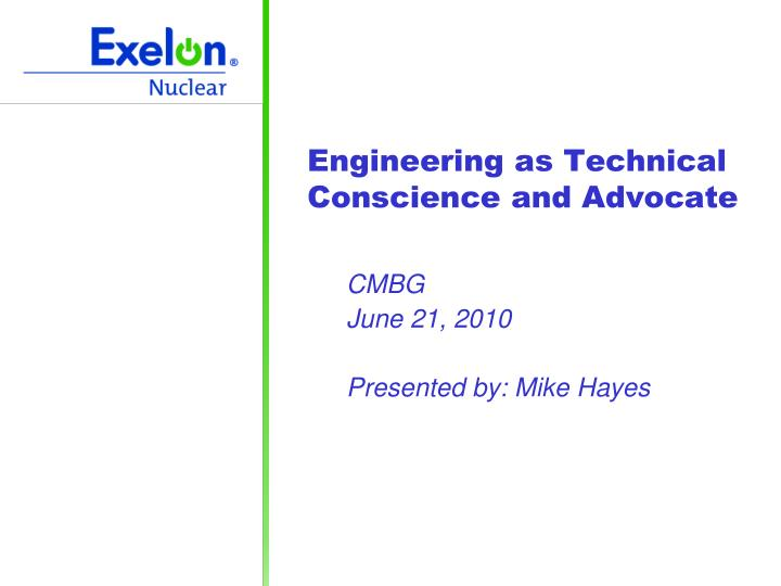 engineering as technical conscience and advocate n.