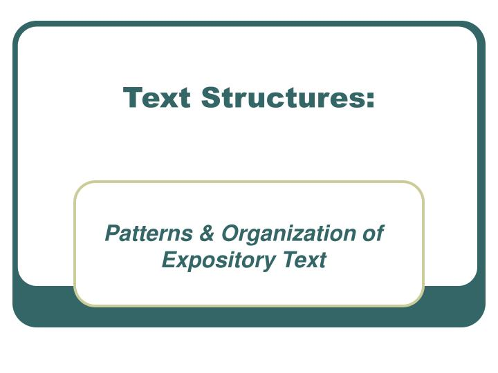 text structures n.