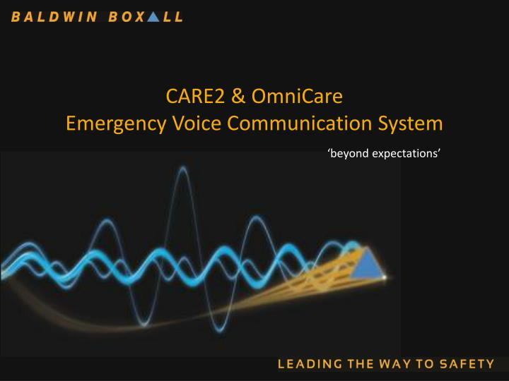 care2 omnicare emergency voice communication system n.
