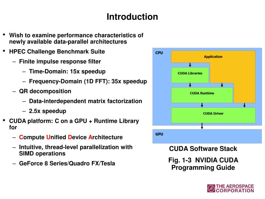 PPT - Benchmarking the NVIDIA 8800GTX with the CUDA Development