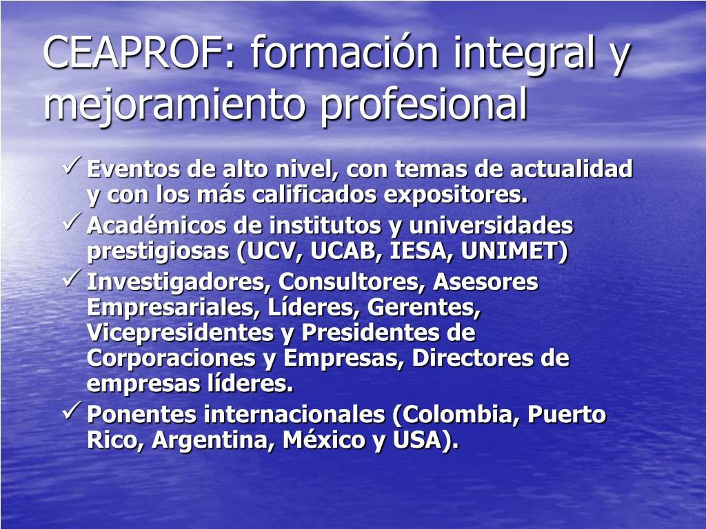 CEAPROF: formación integral y mejoramiento profesional