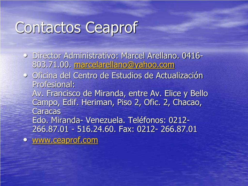 Contactos Ceaprof