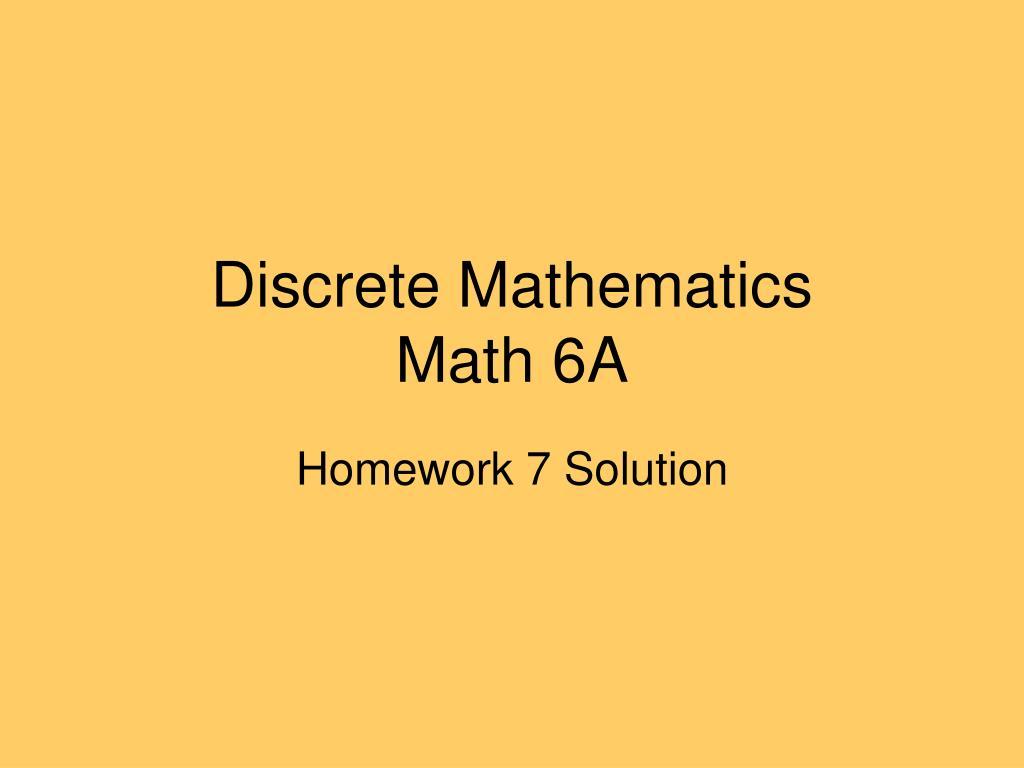 discrete mathematics math 6a l.