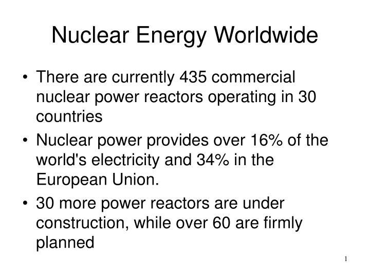 Nuclear energy worldwide