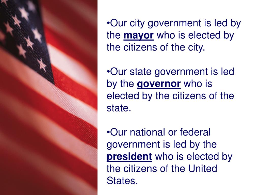 Our city government is led by the