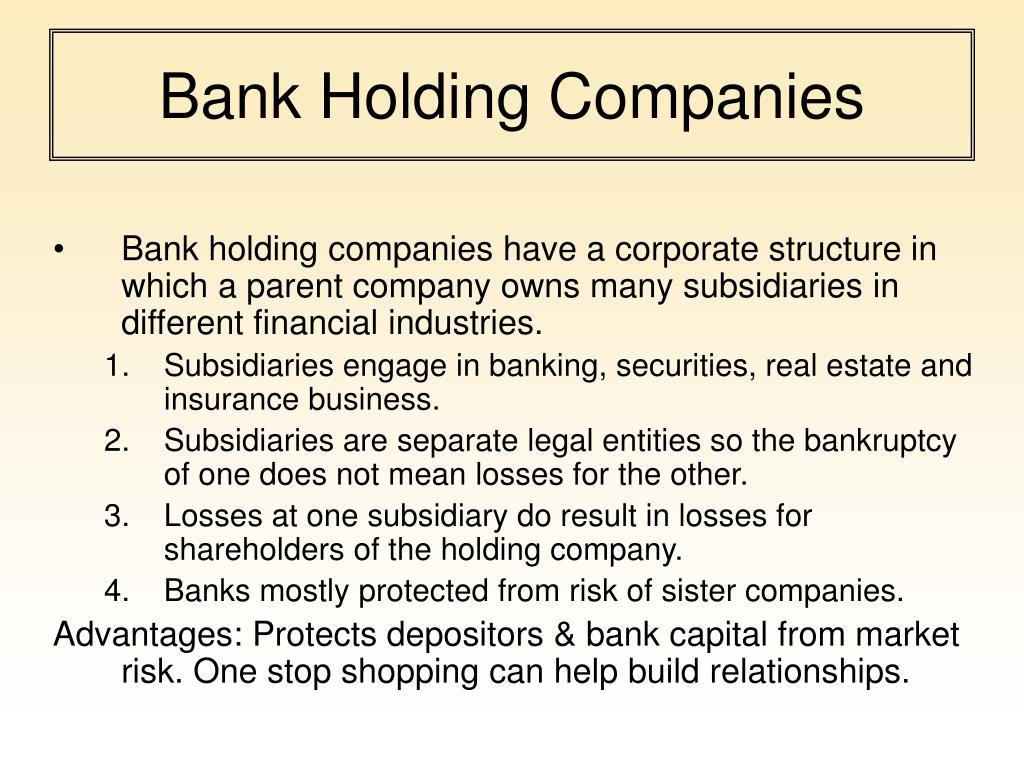 Bank Holding Companies
