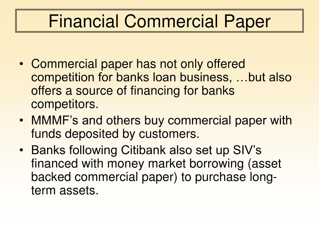 Financial Commercial Paper