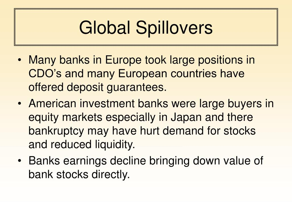 Global Spillovers
