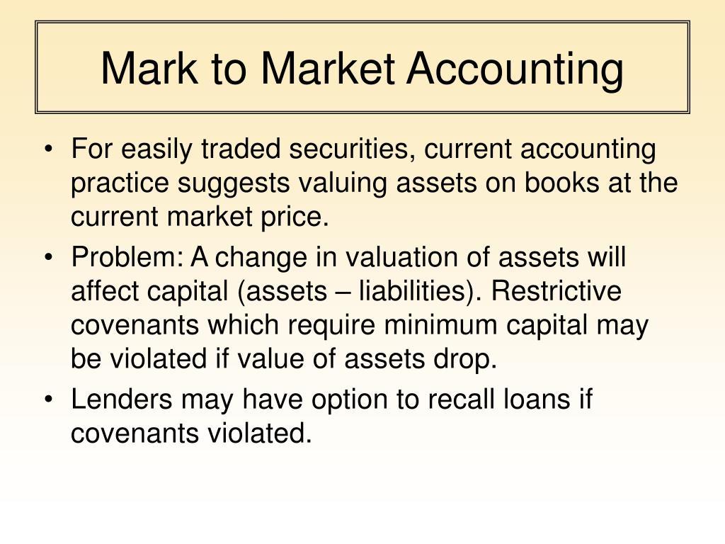 Mark to Market Accounting