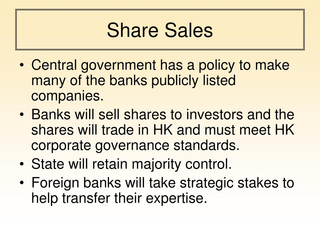 Share Sales