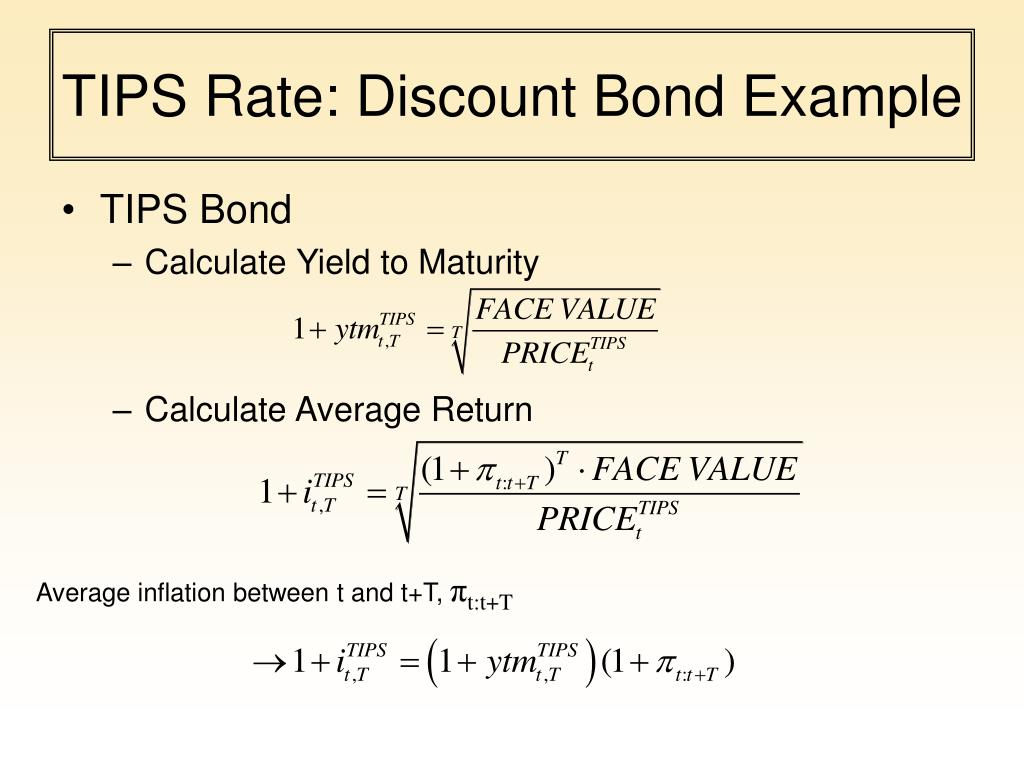 TIPS Rate: Discount Bond Example