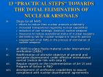 13 practical steps towards the total elimination of nuclear arsenals39