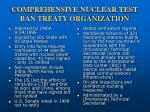 comprehensive nuclear test ban treaty organization