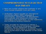 comprehensive nuclear test ban treaty