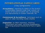 international safeguards 3 key components
