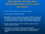 the treaty on the non proliferation of nuclear weapons