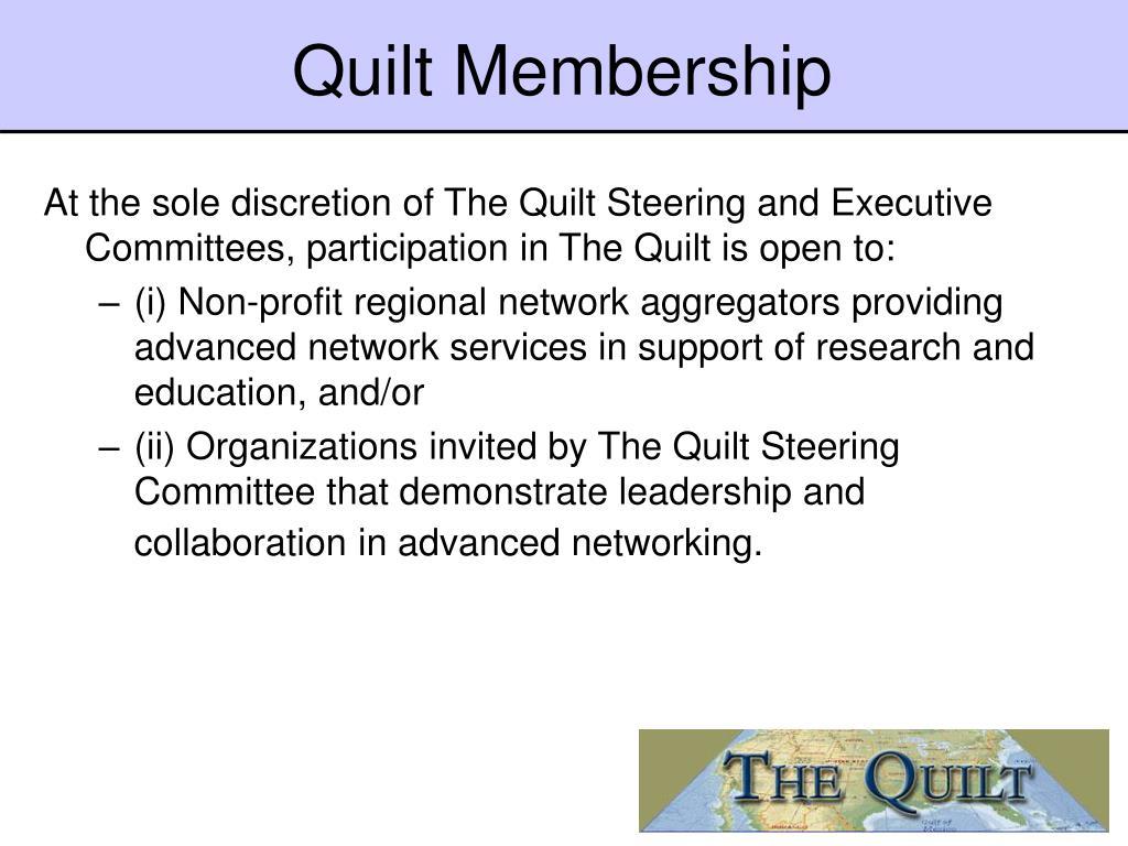 Quilt Membership