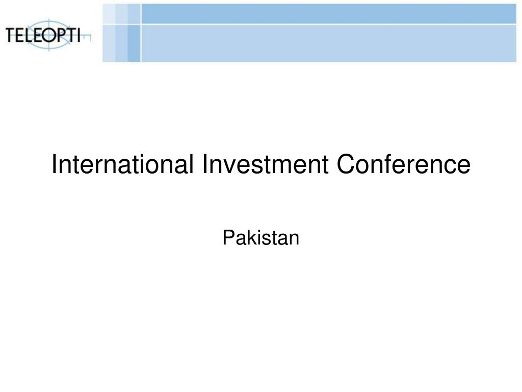 International Investment Conference