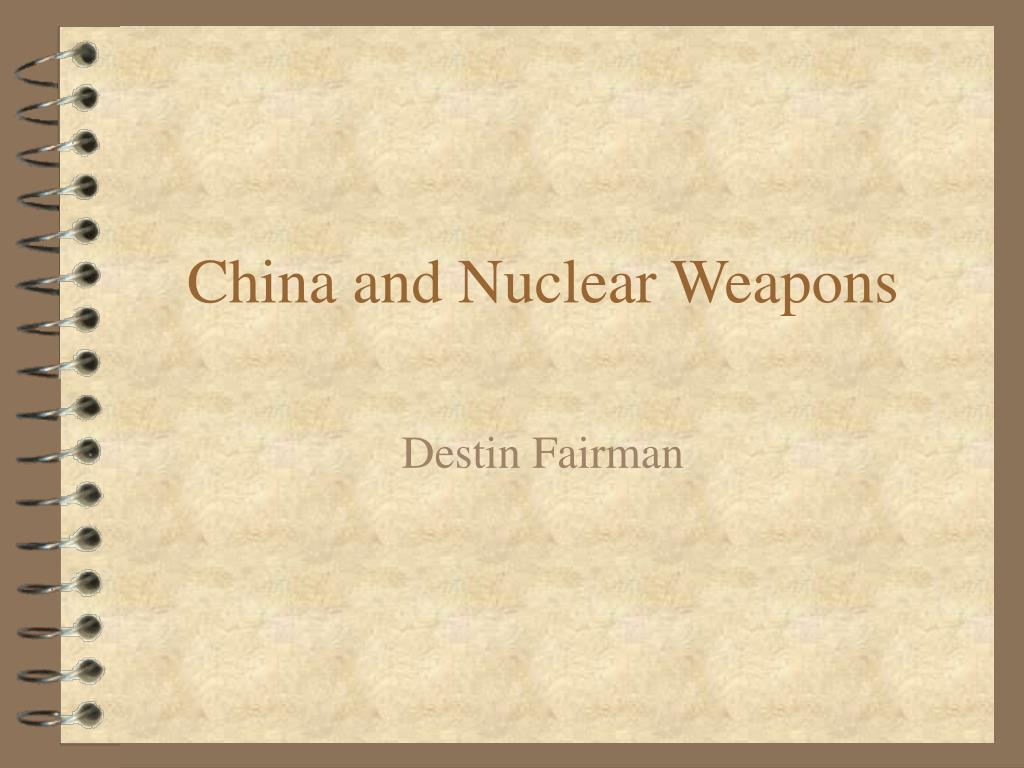 china and nuclear weapons l.