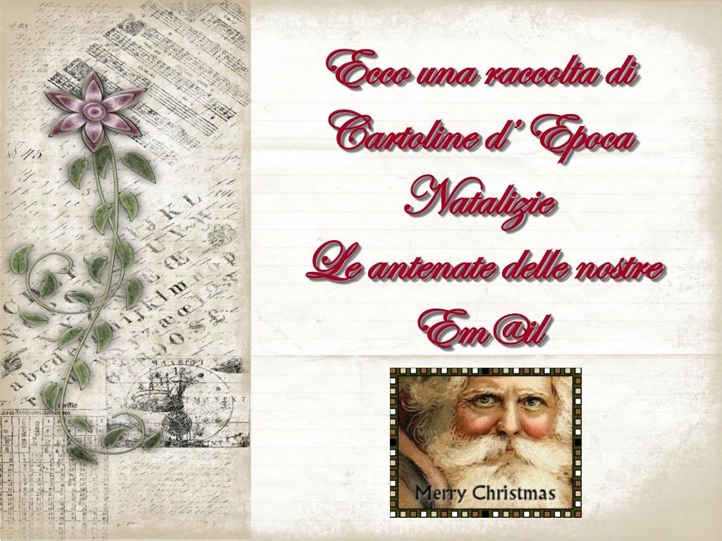ecco una raccolta di cartoline d epoca natalizie le antenate delle nostre em@il l.