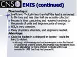 emis continued