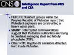 intelligence report from mi5 and cia